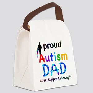 Proud Autism Dad Canvas Lunch Bag